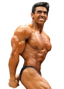 Hugo Rivera Side Triceps Pose