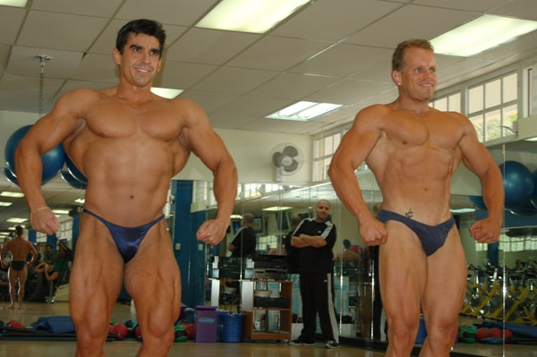 Hugo and Samuel at a Posing Exhibition at the Optimus Gym in Puerto Rico